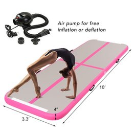 W Toys Australia - Inflatable Gymnastics Tumbling Mat Air Track Tumbling Floor Mats w Electric Pump for Home Use, Beach, Park and Water (3m*1m*0.1m)