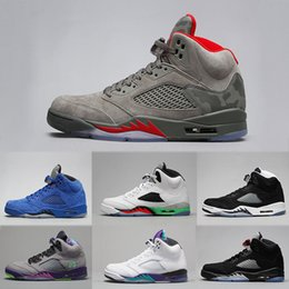 e11d57d64e5 Hot Sale 5 V Newest Men Basketball Shoes Oreo Blue Red Suede Camo Pro Stars White  Cement Sneakers Athletics Sport shoes size 41-47