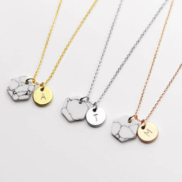 2bf1753f0d2f3 New Fashion Two Pendant Initial Letter Necklace Silver Gold Rose Gold  Personality Necklace Name Jewelry For Friends Gift pulseira feminina N