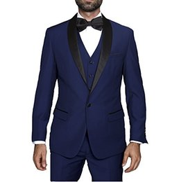 $enCountryForm.capitalKeyWord UK - Latest Design One Button Blue Groom Tuxedos Shawl Lapel Groomsmen Best Man Mens Wedding Suits (Jacket+Pants+Vest+Tie) D:254