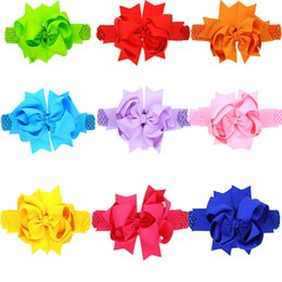 $enCountryForm.capitalKeyWord Australia - Fashion 8 inch Double Layered Bowknot Headband INS Hot Sales Large Grosgrain Bows Ribbon Flower Girl Headband