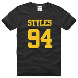 One Direction Rock Music Harry Styles 94 Carta Impresa Camisetas Hombre Verano Estilo Manga Corta O-Neck Cotton Camiseta Hombre S-3XL
