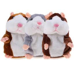 $enCountryForm.capitalKeyWord NZ - 3Pcs Set Cute Plush Talking Hamster Mouse Pet Toy Speaking Sound Record Educational Toys For Kids Baby Xmas Gift