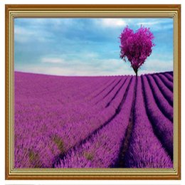 decorative painting tools 2020 - new 5D full diamond paste lavender stick drill cross stitch living room decorative landscape diy diamond painting a156 d