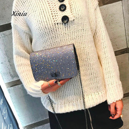 Silver Sequin Shoulder Bag NZ - Women Crossbody Bag Girl Fashion Bling Sequins Padlock Crossbody Shoulder Bag Ladies Casual Messenger High Quality Handbags