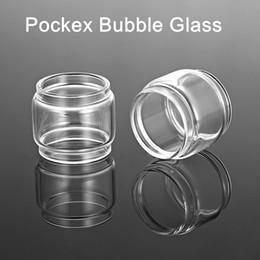Accessory Glasses Australia - Fit Aspire Pockex replacement bubble glass tube extended vape blub glass tank ecig accessory