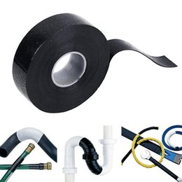 Hose Repair Australia - Wholesale- Black Rubber Performance Repair Bonding Rescue Self Fusing Electrical Wire Hose Tape 4meters