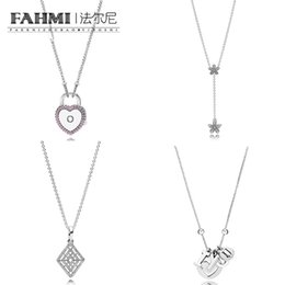 China FAHMI 100% 925 Sterling Silver Charm LOCK YOUR PROMISE NECKLACE Dazzling Daisies Necklace Clasp Exquisite Fashion Ladies Jewelry suppliers