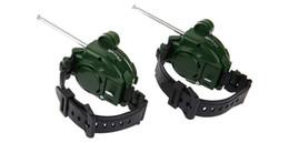 Ingrosso 2pcs 7 in 1 walkie-talkie orologio stile mimetico giocattolo per bambini per bambini elettrico forte gamma chiara interfono per bambini giocattoli interattivi