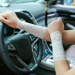 Black Lace Hot Scar Covers Sun Protection Driving Gloves Summer Manchette Arm Sleeves Gloves Sleeve Lady Arm Warmers For Women Apparel Accessories