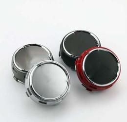 Vente en gros Car Styling 4Pcs / lot 75mm Gris / Noir / Rouge / Argent Casquettes de centre de roue de voiture emblème enjoliveur de roue jantes Cap pour Badges
