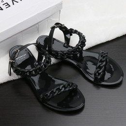 Europe and the United States new plastic chain beach shoes candy color jelly sandals chain flat bottomed out sandals adn180704010 outlet Manchester top quality cheap price discount classic best place 4Wtzzg2p