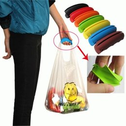silicone bag handles 2019 - Silicone Shopping Bag Grocery Holder Reusable Basket Carrier Grocery Holder Comfortable Shopping Bag Handle FFA639 300PC