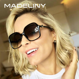 sunglasses designs NZ - MADELINY Fashion Women Square Sunglasses Brand Design 2018 Big Frame Classic Vintage Female Sun Glasses Eyewear UV400 MA376