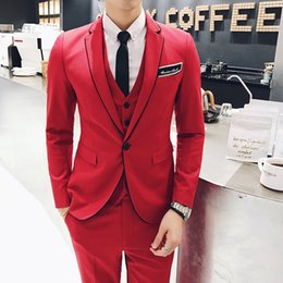 $enCountryForm.capitalKeyWord NZ - Mens Tuxedo 2017 Red Mens Party Suits Winter British Style Suits Fashion Latest Coat Pant Designs Social Club Wedding Groom