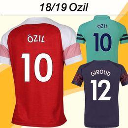 96ba2847c 2018 19 OZIL GIROUD Soccer Jerseys WILSHERE RAMSEY LACAZETTE Home Away 3rd  Mens Shirts 18 19 MUSTAFI Short Sleeves Football Jersey Uniforms