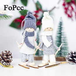 $enCountryForm.capitalKeyWord Canada - Creative Kawaii Christmas Angel Girl Ski Pendant Christmas Tree Decoration For Home Xmas Cute Doll Party Decoration Kids Gift
