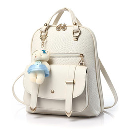 Discount White Leather Backpack | 2018 White Leather Backpack ...