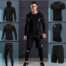 Men Gym Clothes Canada - 2017 New High Quality Men Sports Running Sets Quick Dry Basketball Jogging Suits Compression Sports Gym Fitness Training Clothes