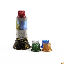 mini drip tank NZ - 2 Styles Mini Super Tank Epoxy Resin Shiny Shine Drip Tips Shining Mouthpiece For Tobeco MINI SUPERTANK Drip Tip Wide Bore Vape Atomizer