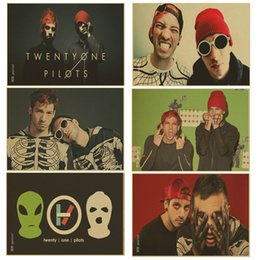 Wall Stickers Rock Canada - Retro poster rock music band Twenty One Pilots poster kraft paper vintage Poster Wall Sticker Home Decor