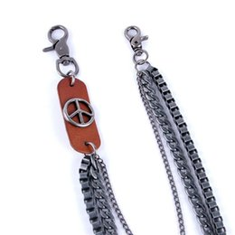 $enCountryForm.capitalKeyWord NZ - Men's Motorcyle Keychain Jean Biker Wallet Chains Leather Charm Multilayer Male Rock Punk HipHop Pant Trousers Belt Chain DR26