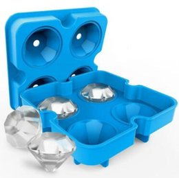 3d mold maker online shopping - 3D Silicone Diamond Ice Cube Mold Whiskey Wine Cocktail Ice Cube Tray Maker Kitchen DIY Cake Candy Ice Cream Mould Tool CCA9442