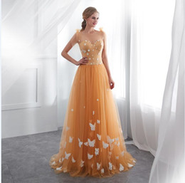6dcff5a6bb0 2018 New elegant gold stain Prom Gowns fairy off shoulder formal evening dress  Tulle long appliques formal party Gown In Stock 22659
