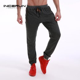 $enCountryForm.capitalKeyWord Canada - INCERUN Mens Slim Fit Sweatpants Casual Tracksuit Bottoms Men Bodybuilding Fitness Workout Pants Track Joggers Sporting Trousers