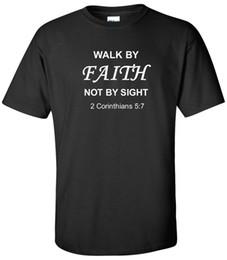 $enCountryForm.capitalKeyWord Australia - Walk By Faith T-Shirt 2 Corinthians 5:7 Church Tee Mens Unisex Christian Shirts T-Shirt Men High Quality Short Sleeve Crewneck Cotton Big Si