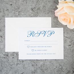 2018 cartes RSVP / cartes de réponse / cartes de réception spécialement personnalisées, impression gratuite, livraison gratuite de qualité A ++