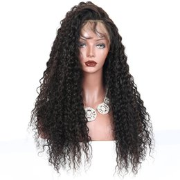 Kinky Curly Human Hair Afro Wigs Australia - 130 Density Brazilian Virgin Hair Afro Kinky Curly Wigs With Bangs Human Hair Kinky Curly Full Lace  Front Wig For Black Women