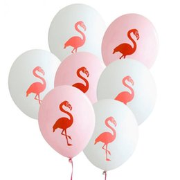 $enCountryForm.capitalKeyWord Australia - New 12Inch Pink Flamingo Party Balloons Latex Inflatable Ballon Christmas Tropical Party Supplies Wedding Decoration LX4155