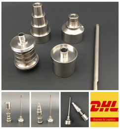$enCountryForm.capitalKeyWord Australia - Wholesale Titanium Domeless Nail With Titanium Carb Cap 6 in 1 10mm 14mm 18mm Joint Titanium Nails For 16mm 20mm Heat Coil