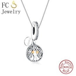 $enCountryForm.capitalKeyWord NZ - FC Jewelry 925 Sterling Silver Letter Falimy Tree of Life Enamel Zirconia Necklaces Pendants Women Femme Chain Chokers Trinket
