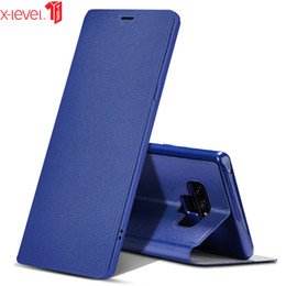 cover note flip stand Canada - For Samsung Galaxy Note 9 Case X-Level Original PU Leather Ultra Slim Flip Stand Cover Case For Samsung Note 9 Note9 Case