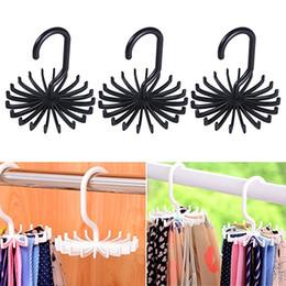closet hooks for clothes 2019 - Tie rack belt hanger scarf holder hook for closet organizers 360 degree rotating 20 hooks tie rack hanger