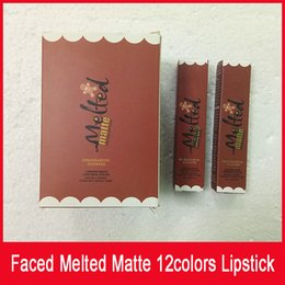 melted lips 2019 - Melted Matte Liquid Lipstick Faced Lip Gloss LIQUIFIED Matte Lipstick Faceed Makeup Melted Lip Gloss Long Wear 12 color