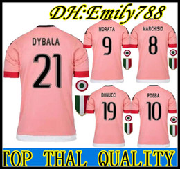 141726c5b Pink Soccer Jerseys Canada - 2016 BEST QUALITY Italy POGBA JUVENTUS SOCCER  JERSEYS 15 16 DYBALA