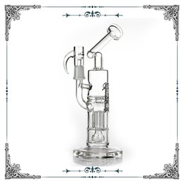 ReinfoRced glass online shopping - 8 inches Sovereignty Glass bong Reinforced Arm Pillar Perc and Gridded Imperial Percolator water pipes oil rigs bongs bubbler pipe