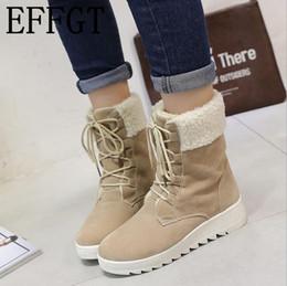 bbbe0b04815 wholesale 2019 fashion Women Boots Winter Female Plus Velvet Snow Boots  Women Cotton Flat Ankle Boots for lace-up women shoes Z134