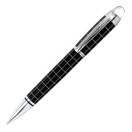 baoer pen nib UK - Baoer 79 Black Silver line High quality luxury Big Brand Model Business office medium Nib Ballpoint Pen New