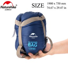 Naturehike ultralight outdoor sleepiNg bag online shopping - NatureHike x75cm Mini Summer Warm Weather Outdoor Nature Camping Hiking Climbing Ultralight Envelope Cotton Sleeping Bag