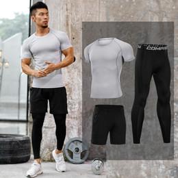 Mallas de entrenamiento para hombres Compresión de secado rápido Trajes deportivos Ropa de baloncesto Gimnasio Ejercicio físico Correr Juegos de ropa deportiva en venta