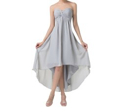 Sequins Low Back Prom Dress UK - Short Front Long Back Evening Dresses Special Occasion A-Line Dresses Grey High Low Prom Dresses Party Formal Gowns HY1378