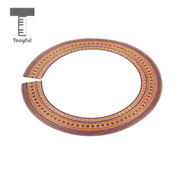 Acoustic Guitar Stickers Decals UK - Tooyful Exquisite Wood Acoustic Classical Guitars Sound Hole Decal Sticker Rosette Inlay DIY Guitar Decoration Adornment