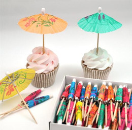 Wedding toothpicks online shopping - Flag toothpick flag Creative Colorful Mini Umbrella Flags Party Cocktail Cup Decoration Baby Shower Supplies Birthday Cake Wedding Supplie