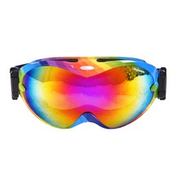 Frame Goggles Ski UK - Skiing goggles double anti fog men ski glasses windproof HD big vision anti UV TPU frame with Myopic glasses Snowboard Goggles