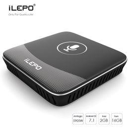 Google Mini Tv Box Canada - iLEPO i18 Smart Voice Control Andorid TV Box Google TV OS Amlogic S905W 2GB 16GB 4K Media Player Better X96 mini MXQ Pro