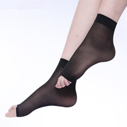 $enCountryForm.capitalKeyWord Australia - Ankle Women Thin Crystal Socks Female Casual Sock Toe Fress Sexy Socks Ultra-thin Tights with Open Toe Shoes Fish Mouth Short Free Size
